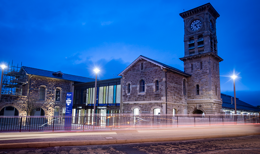 The Front of the new North West Hub